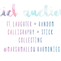 stick auctions // ft. laughter, random calligraphy, and of course stick collecting